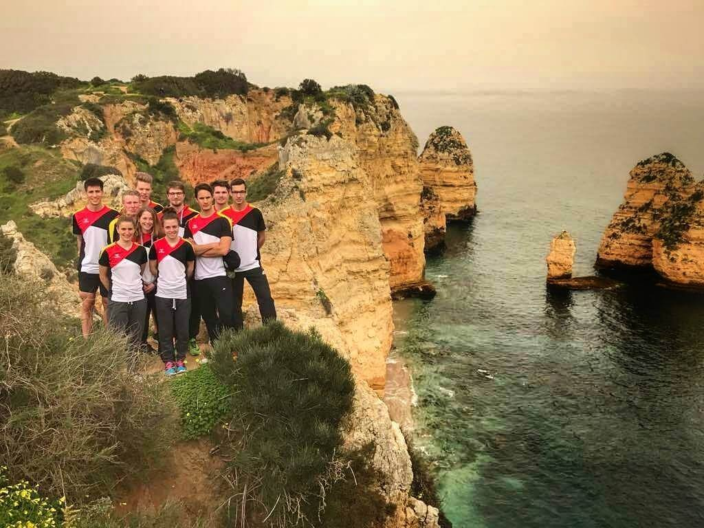 Seleção Alemã estagia em Lagos com Campeão Mundial Sele    o Alem   Lagos fev