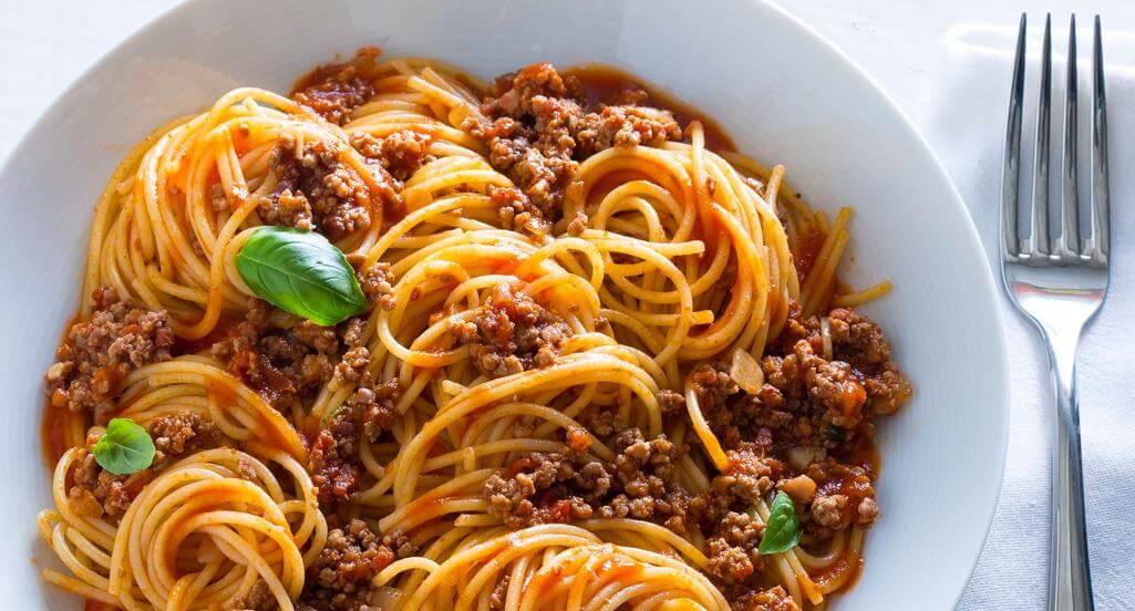 esparguete Menús Menús para torneo Terras do Infante esparguete
