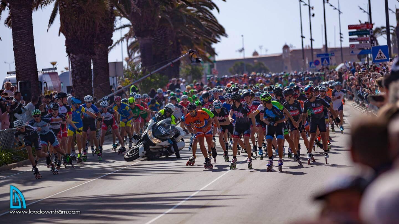 vencedores PATXI PEULA, ESP e AURA QUINTANA, COL VENCEDORES Partida Masculina com queda de moto