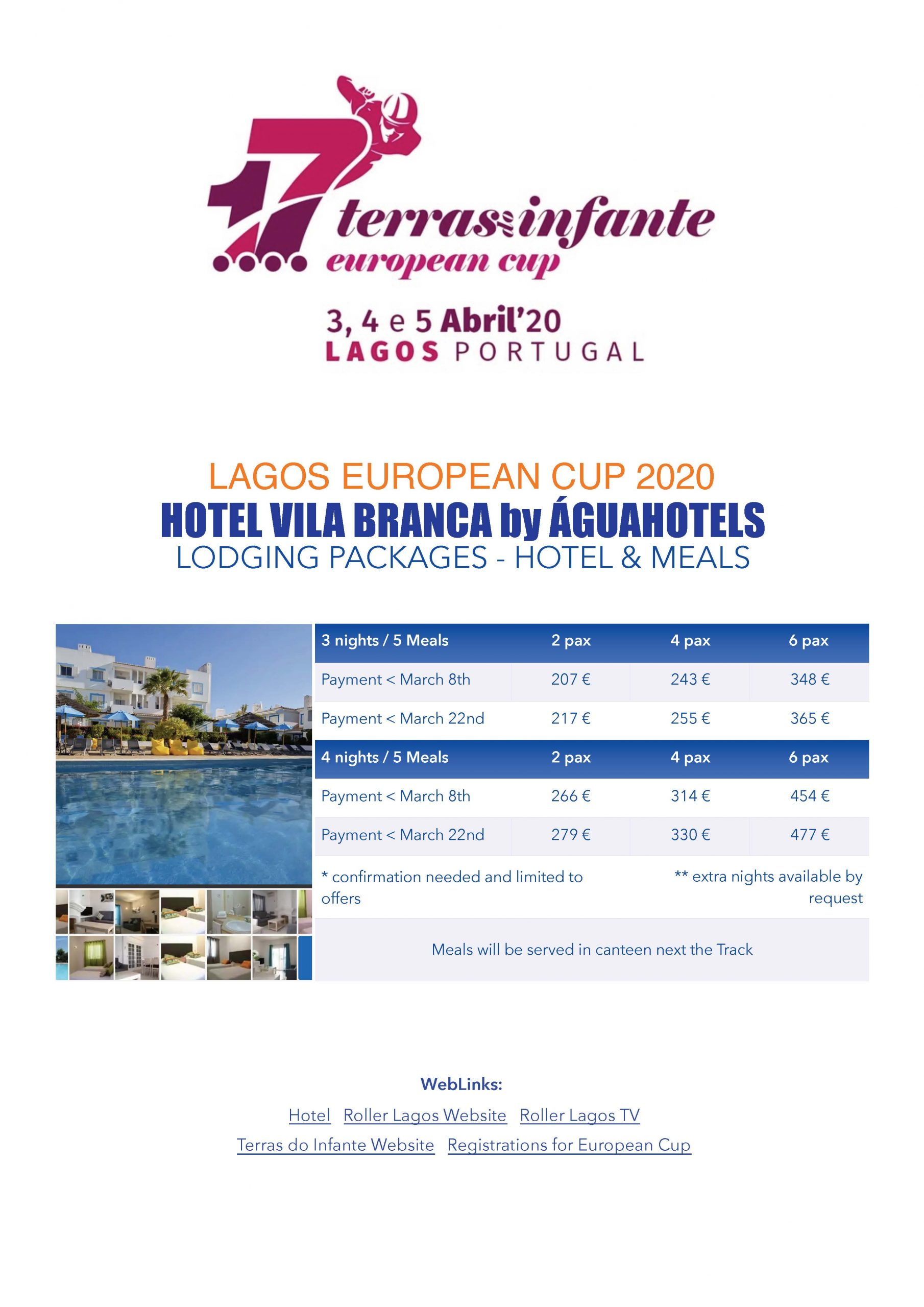 Lodging Packages - Hotels & Meals  Lodging Packages – Hotels & Meals EuroCup Lagos T